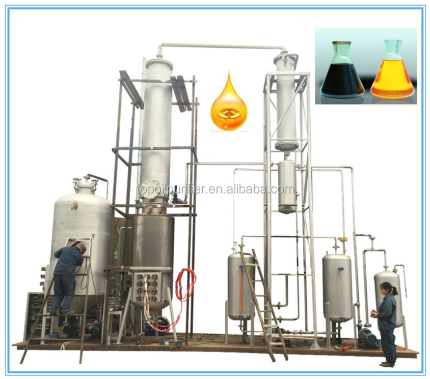 10 tons per day Car engine black oil recycling machine,waste motor oil refinery