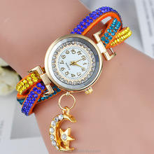 2015 Holiday Sale New Arrival Cheap Lovely Girls Women Watch Fashion Crystal Wrist Watch For Gift.