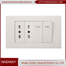 10A 250V CE electric light italian wall switch and socket