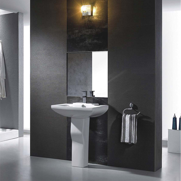 white wc two piece ceramic sanitary toilet in bathroom