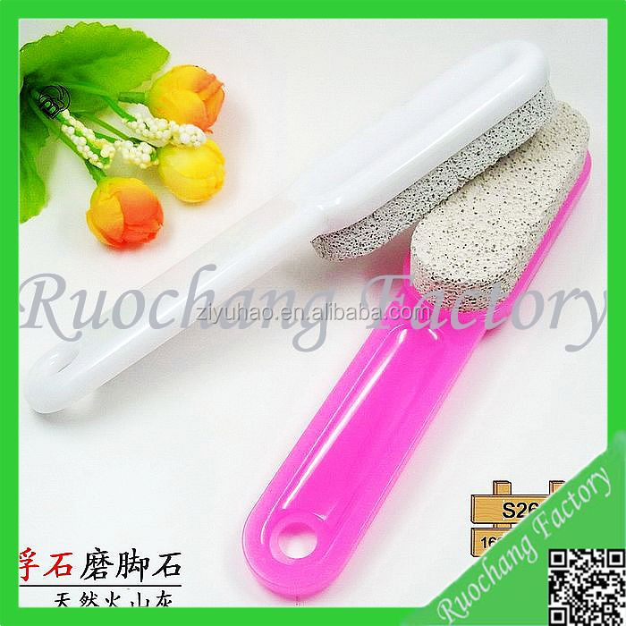 High quality long handle pumice stone for foot cleaning ,pumice stone