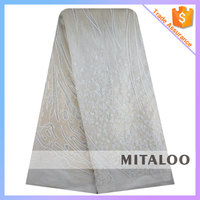 Mitaloo MFL1087 African French Lace Fabric White Fabric For Wedding Dress Lace