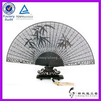 Black Carving Wooden Hand Fan Wholesale
