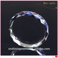 2015 Pujiang Shining 3D Round Blank Crystal Cubes for Engraving Sublimation Printing