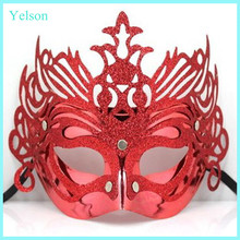Wholesale fashion Halloween design of party red face mask