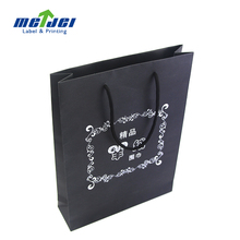 custom black paper carry shopping paper bag with handle for scarf