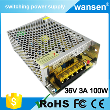 100W 36V 2.8A high efficiency 36v 3a nonwaterproof electronic Constant voltage led driver