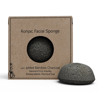 Wholesale Private Label Bamboo Charcoal Facial 100% Natural Face Konjac Sponge