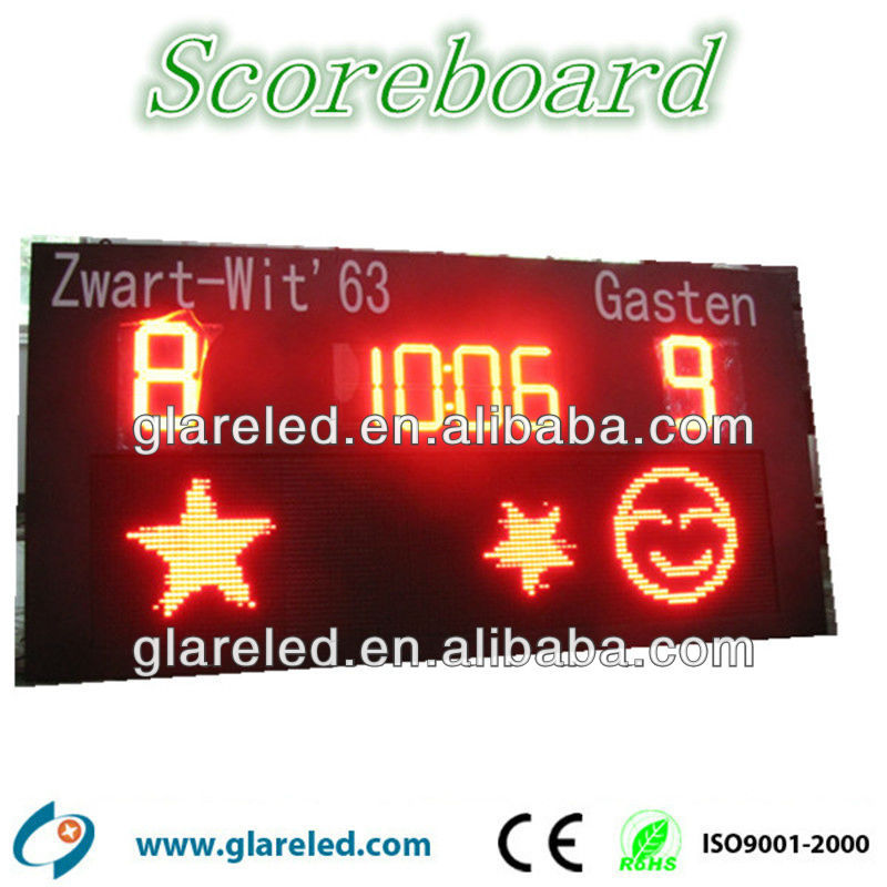 football club use electronic cricket scoreboards