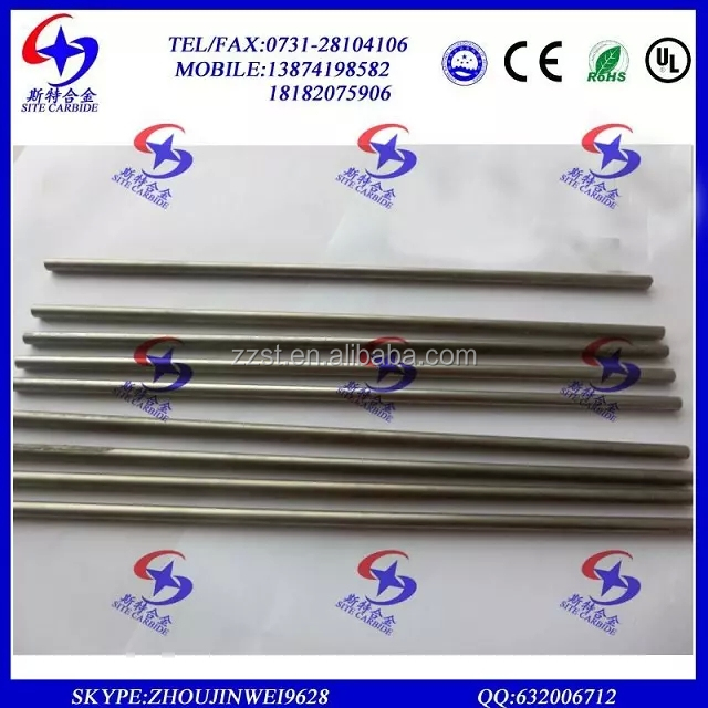 SITE Grounded Tungsten Carbide Rod, Cemented Carbide Products, Solid Tungsten Carbide Rods