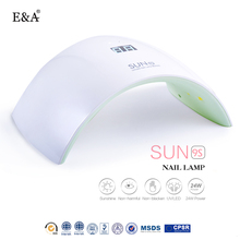 EA 24W UV LED lamp for nails LED dryer polish machine for curing nail gel art tools lamp nail