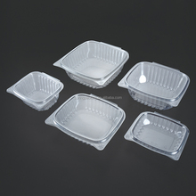 8oz,12oz,16oz,24oz,32oz,48oz lid and base connected clamshell packaging blister plastic container salad fruit cake box