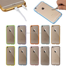 Hot selling high quality Clear PC back with TPU bumper Case For iPhone 6 , for iPhone6 phone cases shenzhen factory
