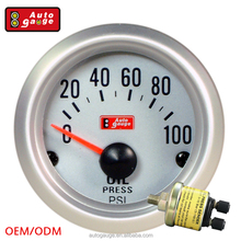 52 MM Factory Price Aluminum Rims Liquid Needle Van auto oil pressure gauges meter