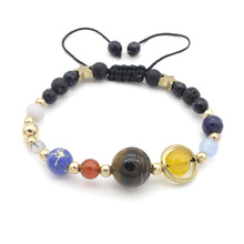 Fashion Stone Nine planets Handmade Braided Bracelet Design For Women Wholesale NS8039656