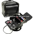 Black Roll Top Soft Makeup Cosmetic Train Case Bag Organizer Beauty
