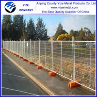 Australia Type Removable Galvanized Temporary Fence/temporary fence stands concrete