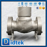 Didtek Reliable Supplier fully open disc swing check valve with horizontal or vertical service