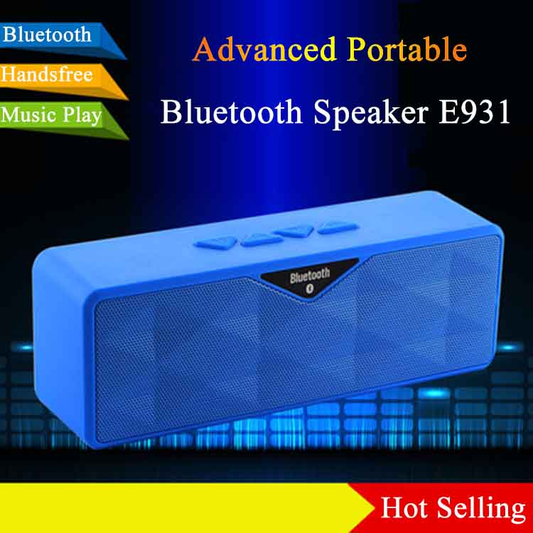 New Style Audio Multimedia Speaker E931 Portable Handle Superior Perfect Stereo Sound Bluetooth Speaker For Outdoor Activity