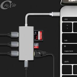 New Products 2018 Type-C Hub Adapter Usb Hub 7 Port To Uhd For Apple Macbook Pro