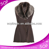 Fashion leather rabbit fur vest from china