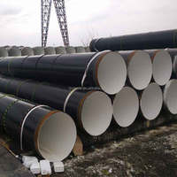 API 5L X65 PSL2 Helical Welded PE Lined Carbon Steel Pipes, 32 Inch Spiral Black Steel Pipes