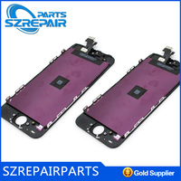 "Cell Phone Parts For apple iphone 5"" original Lcd with digitizer assembly accept paypal"