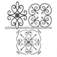 fence and gate decorative wrought iron rosette