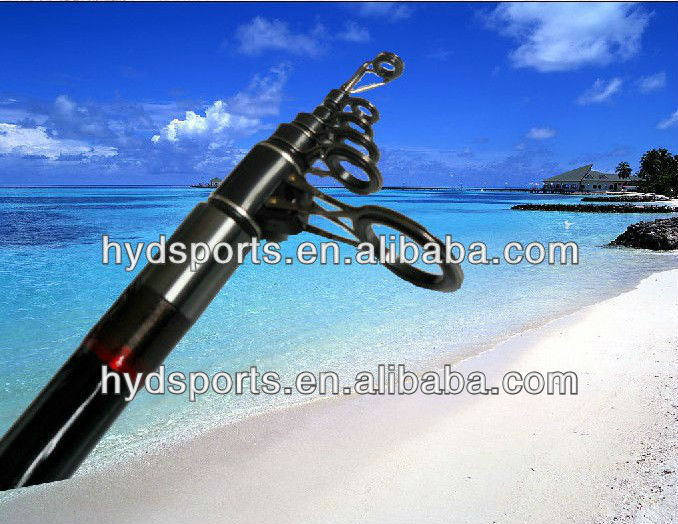 Top quality HYD-ROD-0103 4.2m 5section surf carbon telescopic fishing