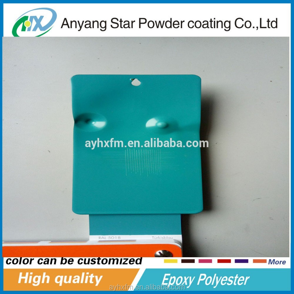 Anyang High Quality hybrid Epoxy Polyester Powder Coating used on hand carts for construction powder coating