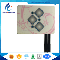 High Quality 1,000,000 Cycles new Digital embossed Membrane Switch
