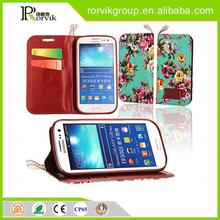 beautiful flower pu leather case for sumsung galaxy i9300 S3