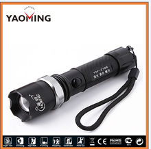 rechargeable flashlight with rotating zoom outdoor riding hiking gifted vip rechargeable flashlight