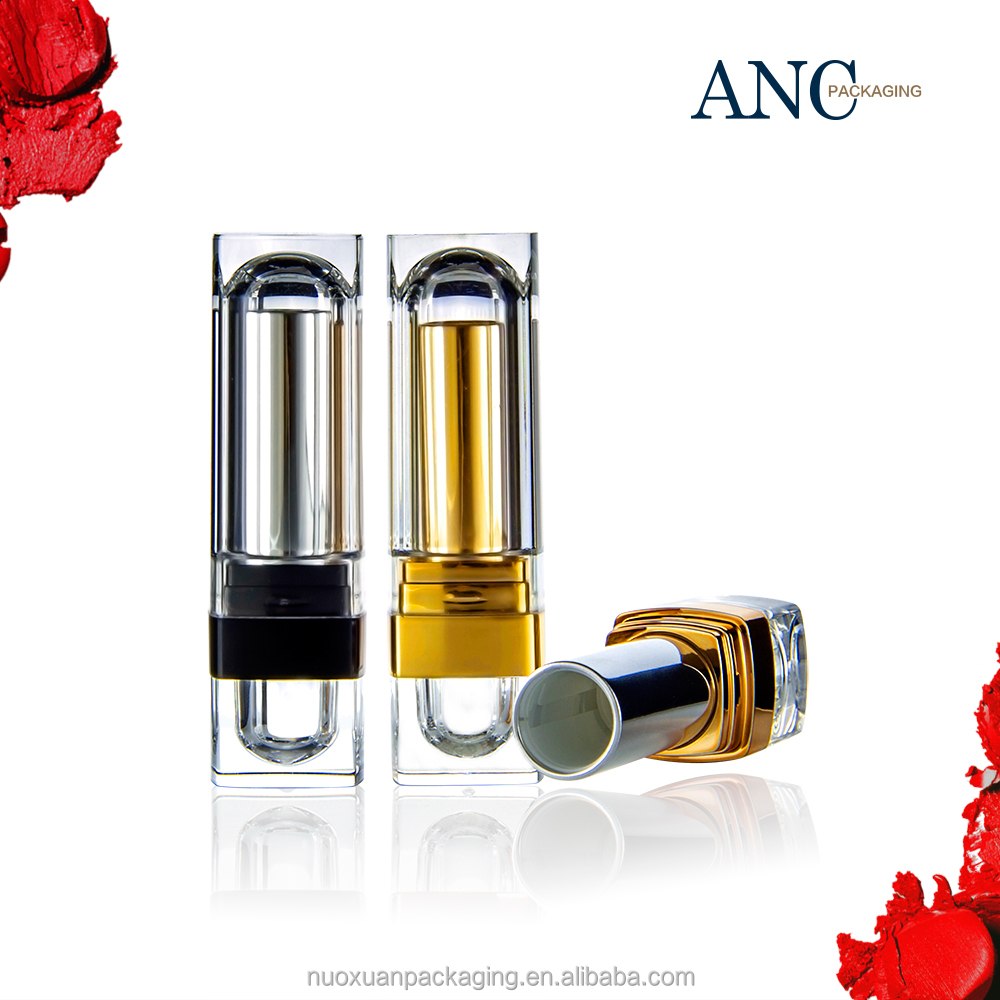 ANC elegant luxry empty aluminum cosmetic lipstick tube packaging