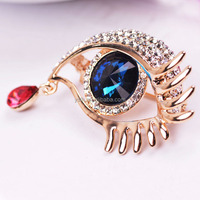 wholesale Angel Tears alloy brooch eyes zircon brooch corsage court style clothing