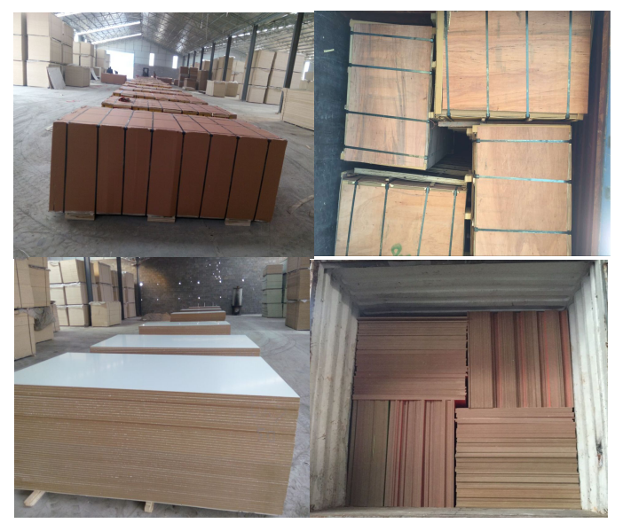High glossy melamine laminated particle board with 15mmx1220x2440