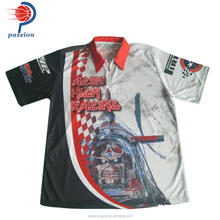 Custom made professional sublimation racing jersey race pit crew shirts