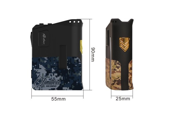 UK Alibaba Express Limitless Arms Race 200W E Cigarette Box Mod from Limitlessmodco