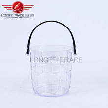 fancy hot selling transparent plastic water bucket/ice bucket/fish barrels
