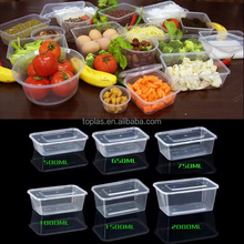 500ml 650ml 750ml 1000ml 1500ml 2000ml Plastic Disposable Microwave PP Food Transport Container