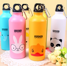 2017 500 ml Custom Design Silk Screen Printing Aluminum 500ML Metal Sports Water Bottle For Drinking cartoon kids water bottle