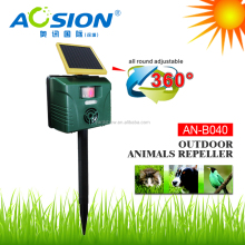 Yard Sentinel Strobe Ultrasonic Repeller Solar Pest Repellent for Yard Use with ultrasonic noise AN-B040