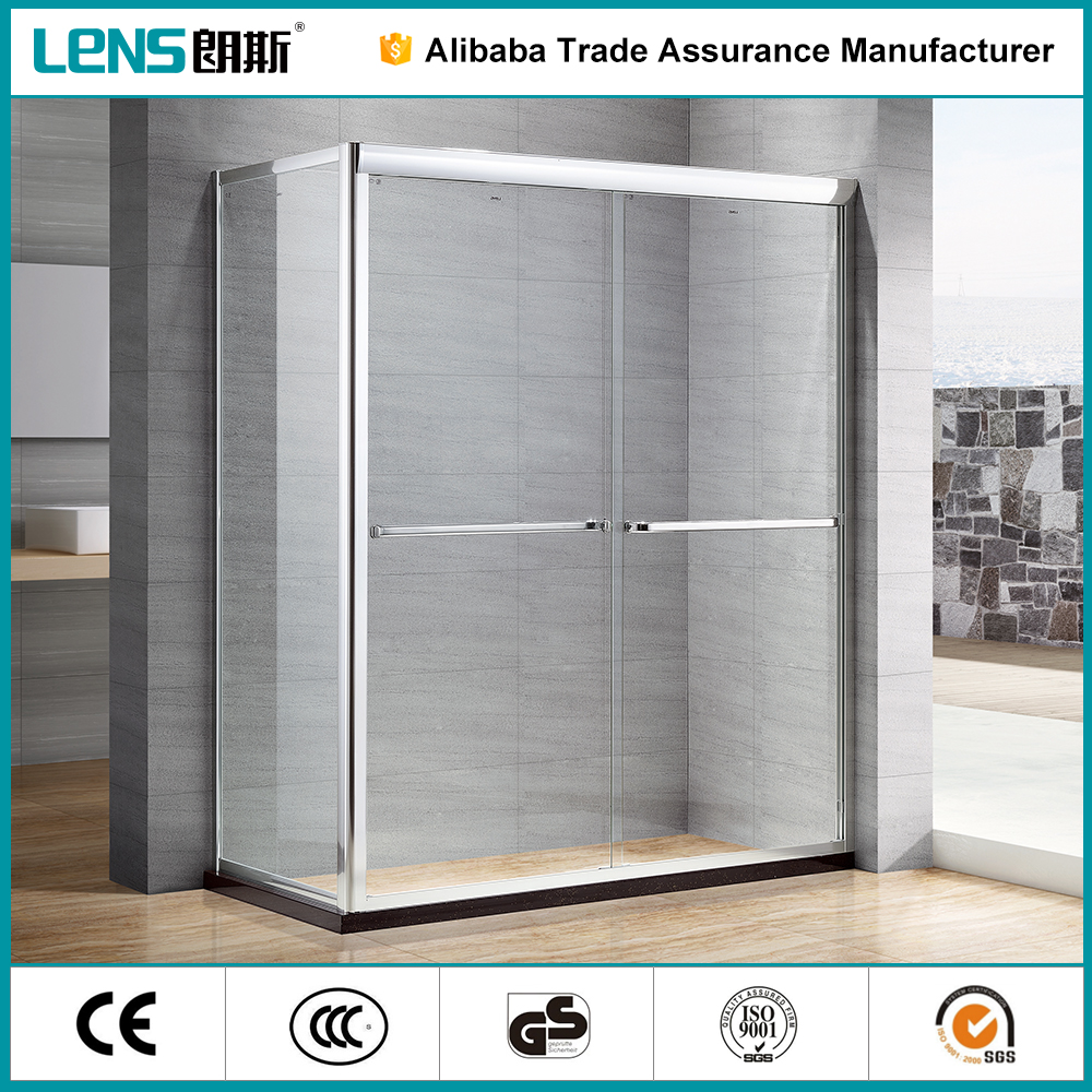 ZhongShan LENS 2 sided safety silding shower enclosure with frame