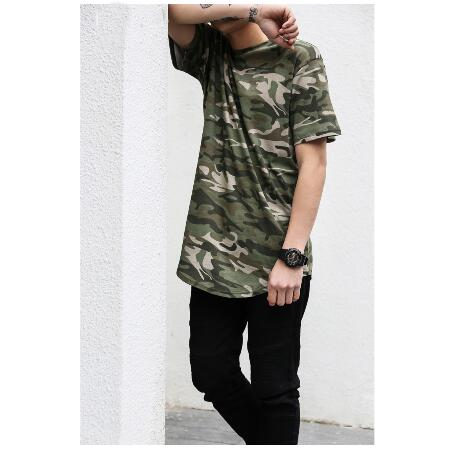 custom longline camo t shirt wholesale custom blank t shirt clothing manufactures