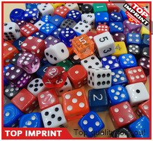 Wholesale D6 Plastic Dice Any Size 12mm14mm 16mm for RPG Game