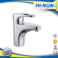 Cheap sanitary ware one handle bathroom basin faucet