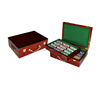 Luxury wooden 500 poker chip set