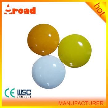 for City Road 4inch white/yellow ceramic road stud street reflector