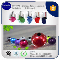electrostatic spray chromatic pigment epoxy polyester powder coating for metal