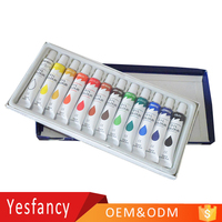 professional 12ml 12colors oil colour paint set OEM accept diy oil painting by numbers